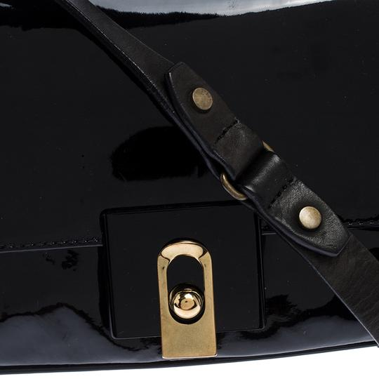 Lanvin Patent Leather Fabric Shoulder Bag Image 7