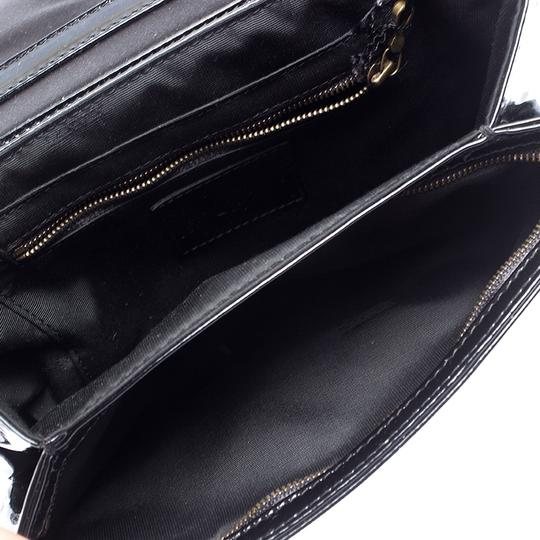 Lanvin Patent Leather Fabric Shoulder Bag Image 8