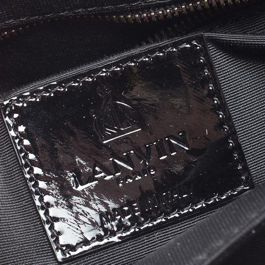 Lanvin Patent Leather Fabric Shoulder Bag Image 9
