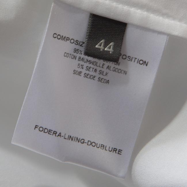 Alexander McQueen Cotton Detailed Striped Top White Image 4