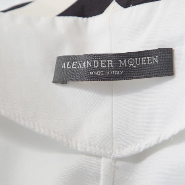 Alexander McQueen Cotton Detailed Striped Top White Image 5