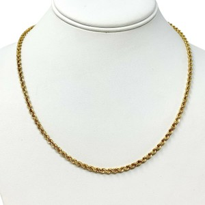 Other 14k Yellow Gold 3mm Hollow Diamond Cut Rope Chain Necklace 18.5