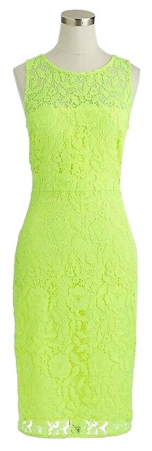 Preload https://img-static.tradesy.com/item/26284006/jcrew-yellow-collection-neon-lace-sheath-sleeveless-knee-length-mid-length-cocktail-dress-size-2-xs-0-1-650-650.jpg