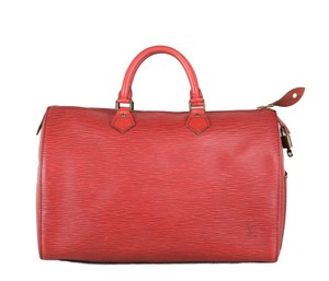 Louis Vuitton Lv Epi Speedy Neverfull Tote in Red