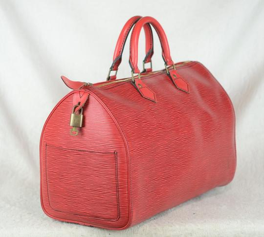 Louis Vuitton Lv Epi Speedy Neverfull Tote in Red Image 2