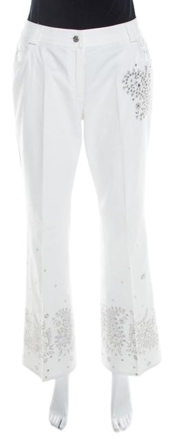 Preload https://img-static.tradesy.com/item/26284033/dior-white-l-cotton-paisley-sequin-embroidered-flared-jeans-capris-size-14-l-34-0-1-650-650.jpg