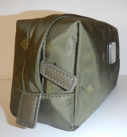 MCM Green Signature Monogram Canvas Pouch Travel or Cosmetic Bag Image 1