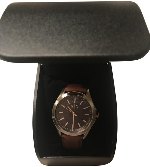 Preload https://img-static.tradesy.com/item/26284057/ax-armani-exchange-black-brown-box-mens-classic-dial-leather-ax26-watch-0-4-540-540.jpg