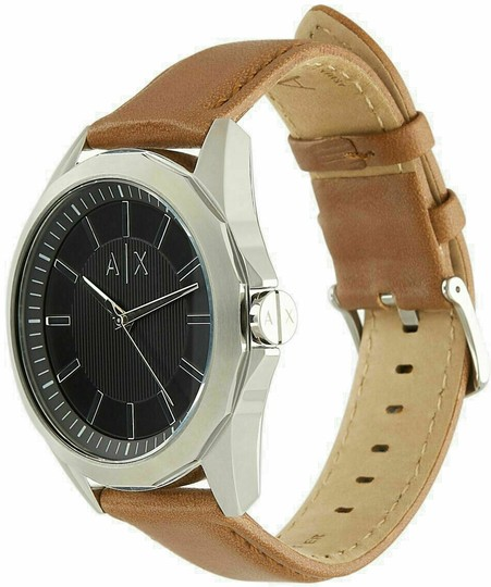 A|X Armani Exchange Armani Exchange Mens Classic Black Dial Brown Leather Watch Box AX26 Image 4