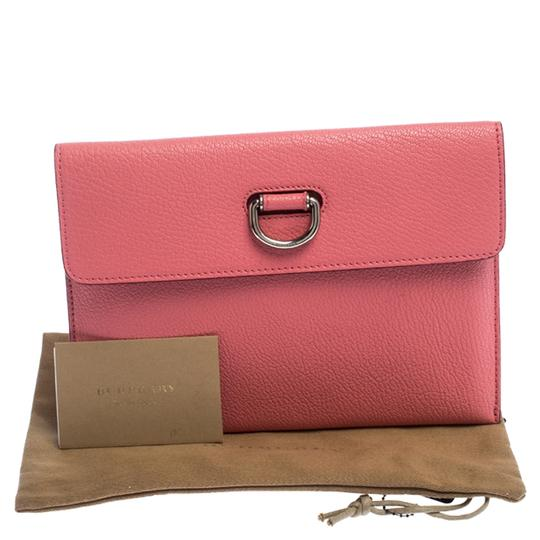 Burberry Leather Pink Clutch Image 9