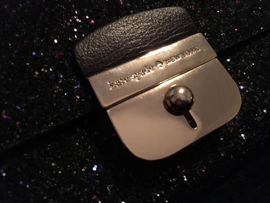 Kate Spade Gold Hardware Exclusive Sparkle Glitter with Black Background Clutch Image 1