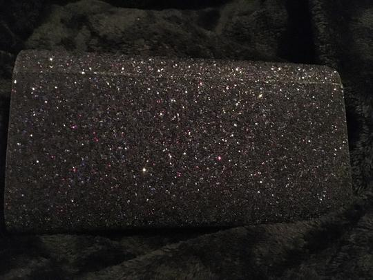 Kate Spade Gold Hardware Exclusive Sparkle Glitter with Black Background Clutch Image 2