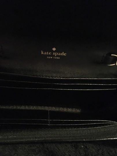 Kate Spade Gold Hardware Exclusive Sparkle Glitter with Black Background Clutch Image 6