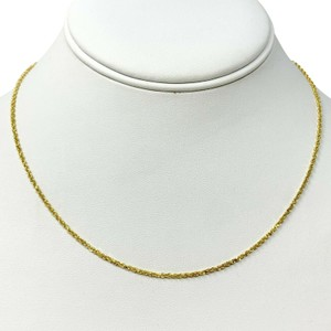 Other 14k Yellow Gold Thin 1.5mm Diamond Cut Rope Chain Necklace 16