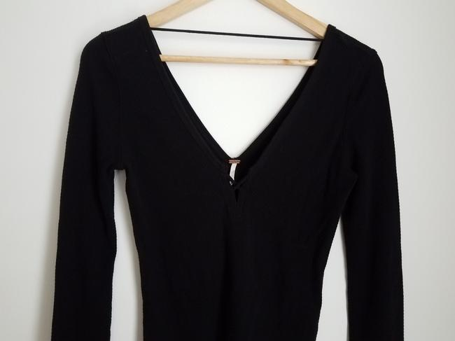 Free People Embroidered Lace T Shirt Black Image 2