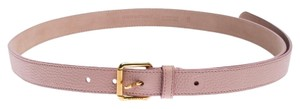Burberry Burberry Pale Pink Leather Thomas Buckle Belt 95CM