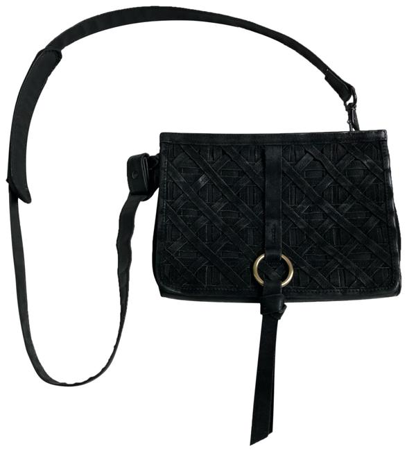 Item - Quilted Suede And Black Leather Cross Body Bag