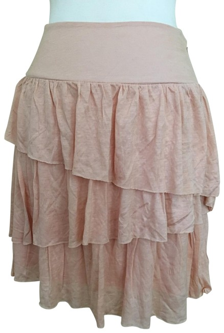 Banana Republic Peach Tiered Mini Skirt Size 6 (S, 28) Banana Republic Peach Tiered Mini Skirt Size 6 (S, 28) Image 1