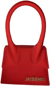 Jacquemus Leather Tote in Red