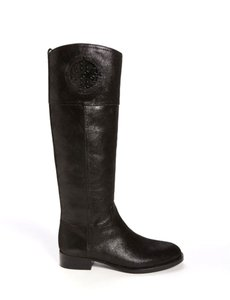 Tory Burch Kiernan Leather Riding Black Boots
