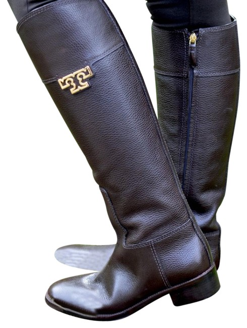 Tory Burch Coconut Joanna Riding Tumble Leather Boots/Booties Size US 8.5 Regular (M, B) Tory Burch Coconut Joanna Riding Tumble Leather Boots/Booties Size US 8.5 Regular (M, B) Image 1