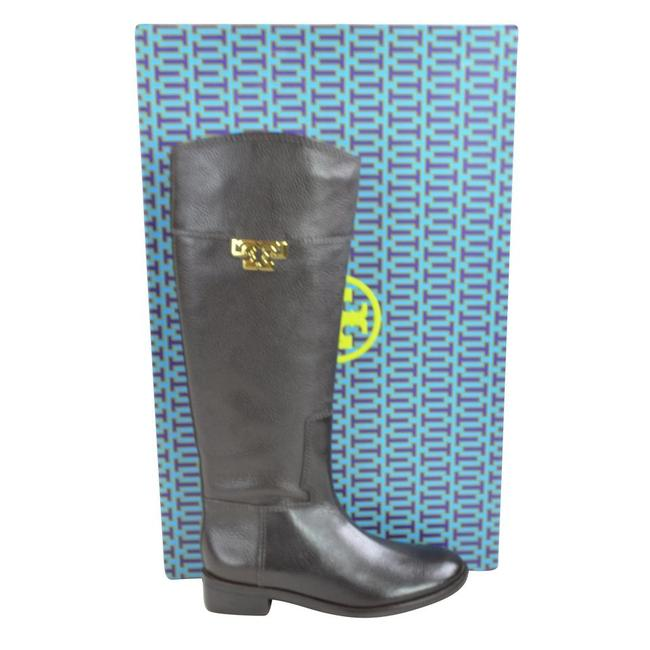 Tory Burch Coconut Joanna Riding Tumble Leather Boots/Booties Size US 8.5 Regular (M, B) Tory Burch Coconut Joanna Riding Tumble Leather Boots/Booties Size US 8.5 Regular (M, B) Image 2