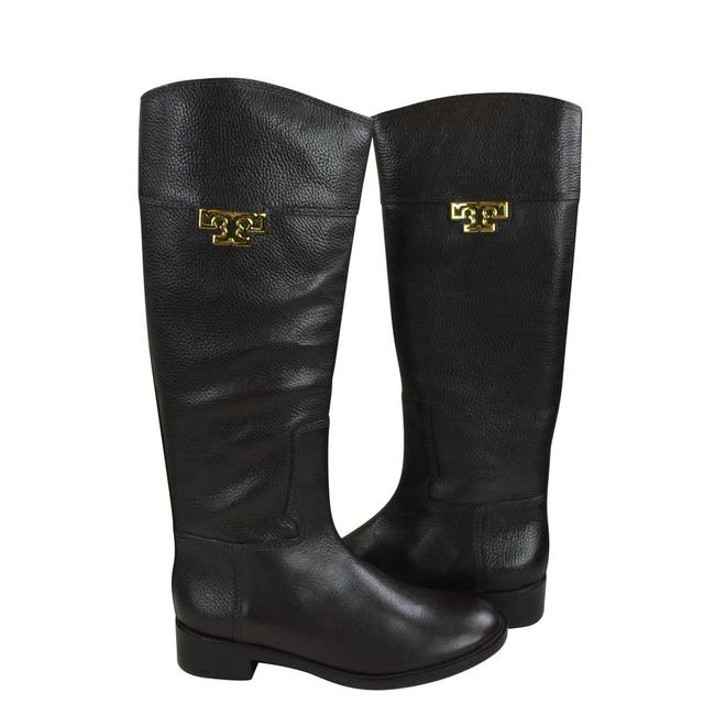 Tory Burch Coconut Joanna Riding Tumble Leather Boots/Booties Size US 8.5 Regular (M, B) Tory Burch Coconut Joanna Riding Tumble Leather Boots/Booties Size US 8.5 Regular (M, B) Image 4