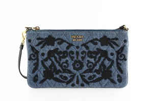 Prada Blue Clutch