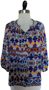 Tucker Silk Print Top Multicolor