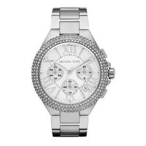 Michael Kors Camille Stainless Steel Crystalized Chronograph MK5634 Watch