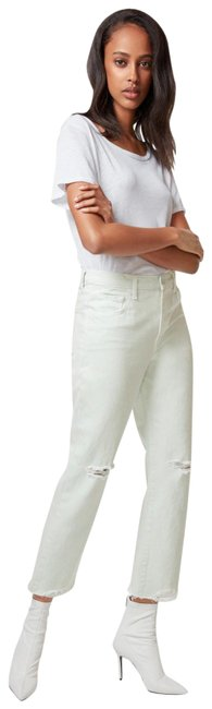 Item - Green Wynne Spearmint High-rise Crop with Ripped Knee Straight Leg Jeans Size 29 (6, M)