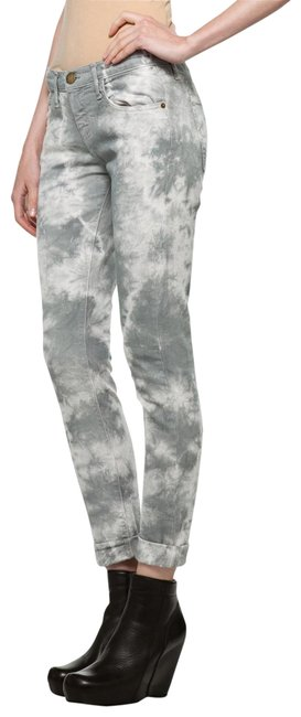 Item - Grey Tie Dye Light Wash Skinny Jeans Size 24 (0, XS)