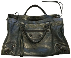 Balenciaga Leather Satchel in Anthracite