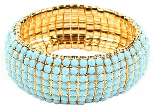 Amrita Singh Gold and Turquoise Kenmare Stretch Bracelet