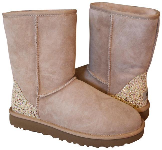 Item - Beige Classic Short Suede Shearling Glitter Boots/Booties Size US 11 Regular (M, B)