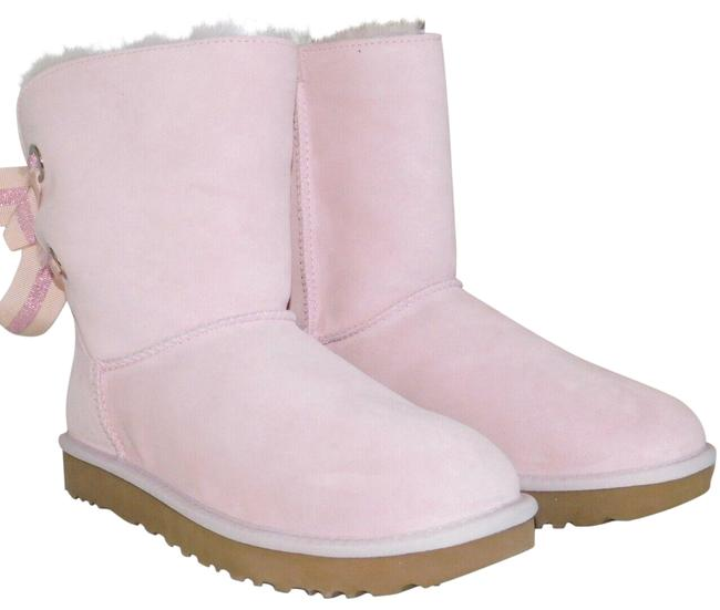 Item - Seashell Pink Bailey Bow Suede Shearling Customizable Boots/Booties Size US 6 Regular (M, B)