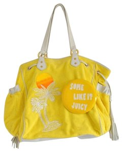 Juicy Couture Bright Summer Tote in Yellow, White