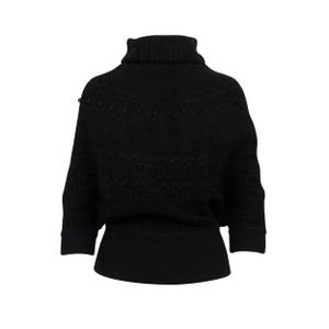 Valentino Chunky Knit Viscose Polyester Embroidered Sweater