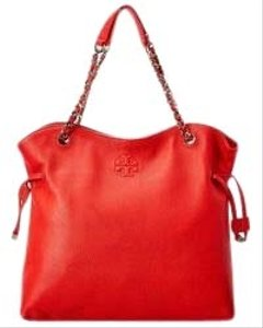 Tory Burch Shoulder Slouchy 60230 Tote in Brilliant Red