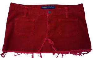 Abercrombie & Fitch & Mini Size 0 Mini Skirt red