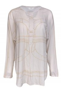 Billy Reid Shirts Ivory Cotton Blend Button Down Shirt