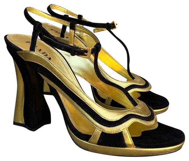 Item - Black and Gold / Wavy Heels / Platform Formal Shoes Size EU 39 (Approx. US 9) Regular (M, B)