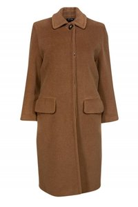 Cinzia Rocca Brown Wool Longline Coat