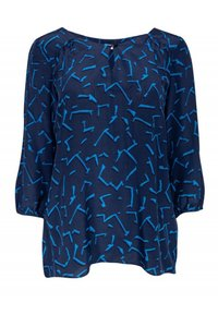 Shoshanna Shirts Navy Silk Top