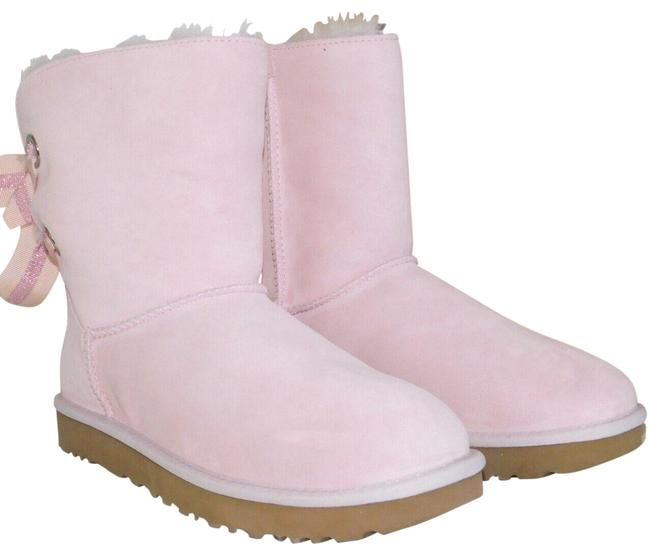 Item - Seashell Pink Bailey Bow Suede Shearling Customizable Boots/Booties Size US 7 Regular (M, B)
