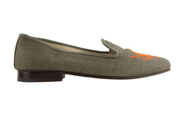 Item - Green Canvas Loafer Flats Size US 8.5 Regular (M, B)