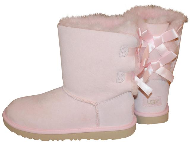 Item - Seashell Pink Bailey Bow Suede Shearling Boots/Booties Size US 5 Regular (M, B)