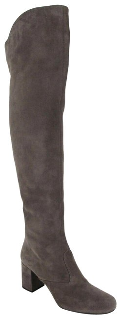 Item - Dark Gray Suede Bb 70 Over The Knee 36.5/Us 393826 1250 Boots/Booties Size US 6.5 Regular (M, B)
