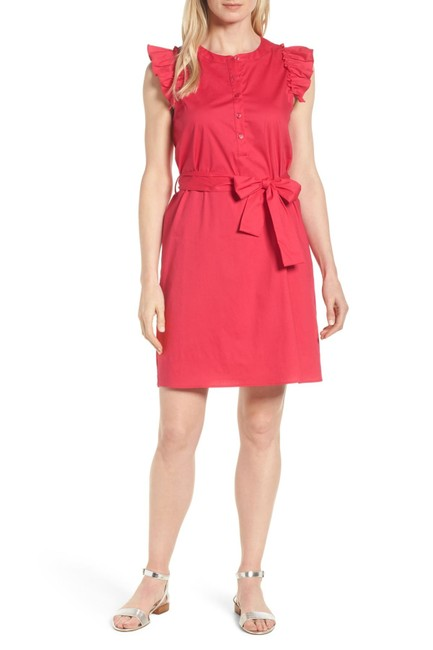 Item - Red Short Casual Dress Size Petite 4 (S)