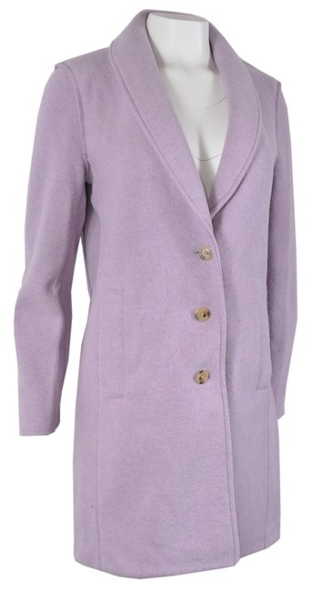 Item - Pink New Women's Smoky Wisteria Boiled Wool Top Jacket Coat Size 12 (L)